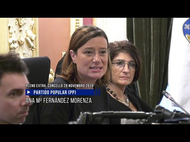Pleno extraordinario del  Concello Ourense 28/11/19