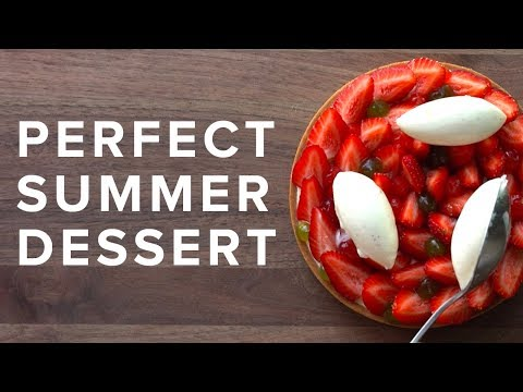Perfect Summer Strawberry Tart Plated