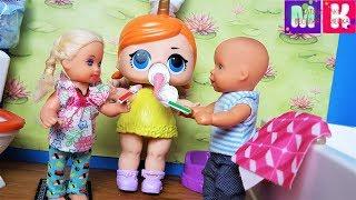 КАТЯ И МАКС ВЕСЕЛАЯ СЕМЕЙКА, БЫСТРО ЧИСТИТЬ ЗУБЫ! Мультики с куклами Барби новые