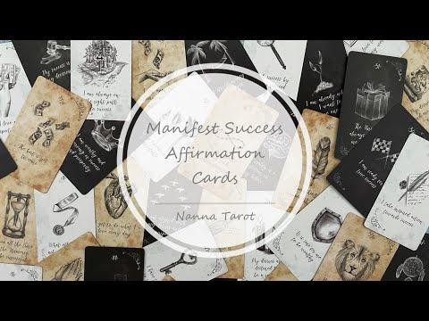 開箱  預見成功自我肯定卡 • Manifest Success Affirmation Cards // Nanna Tarot