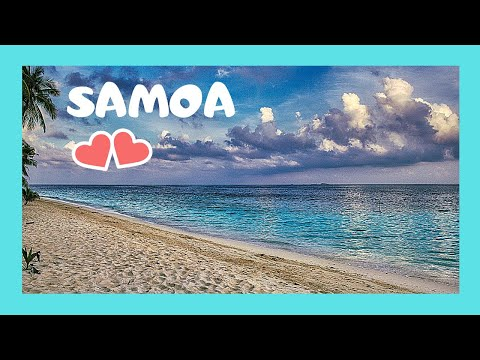 SAMOA, the spectacular VOLCANIC AGANOA BLACK SAND BEACH  (island of UPOLU)