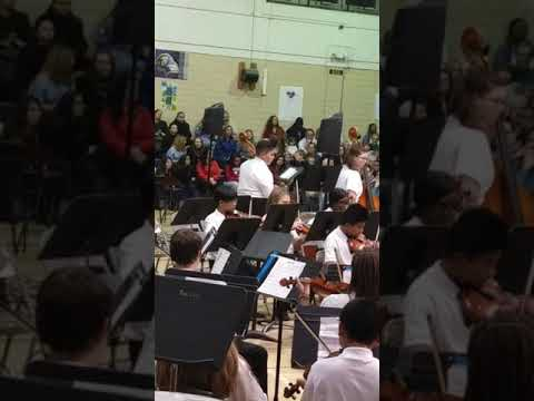 Clarence arbutus middle school winter concert