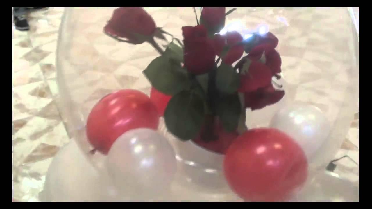 Decoracion para bodas globos chasty youtube - Decoracion bodas con globos ...