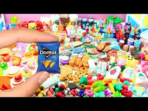 1,000 Handmade DIY Miniatures Doll Foods - Soda, Cakes, Pizza, Pies, Sushi, Candies, etc.