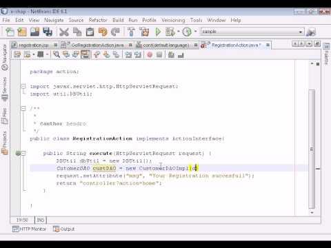 Java Web Programming / JSP. part 23 - Add Form Registration