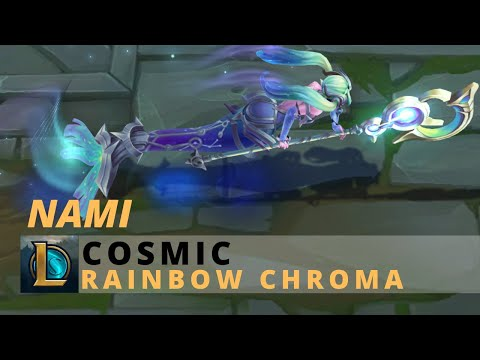 Cosmic Nami Rainbow Chroma - League Of Legends