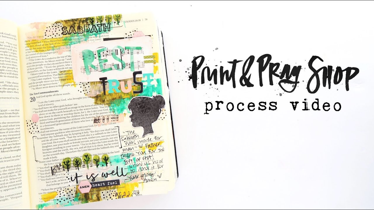 Print & Pray Bible Journaling | Rythyms of Rest