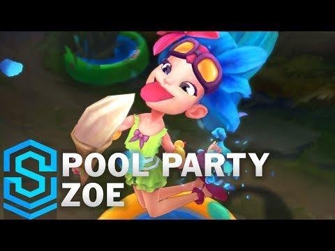 Pool Party Zoe Skin Spotlight - Pre-Release - League of Legends