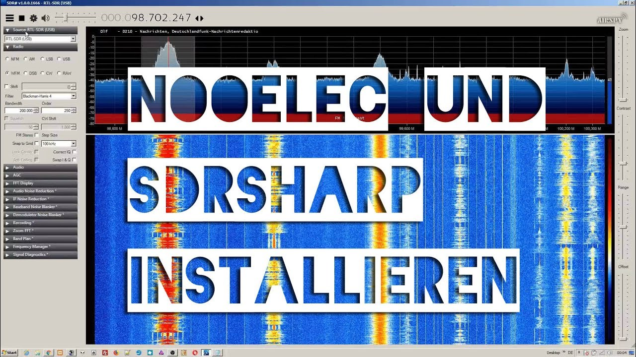 NooElec DVB-T RTL SDR Stick & SDRsharp installieren 25 € Funkempfänger
