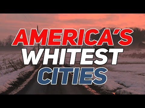 The 10 WHITEST CITIES in AMERICA