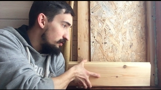 как сделать деревянные откосы на дверь