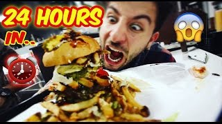 24 HOUR OVERNIGHT BURGER SHOP FORT ⏰ | SNEAKING in BURGER SHOP BIGGEST BURGER OVERNIGHT CHALLENGE!