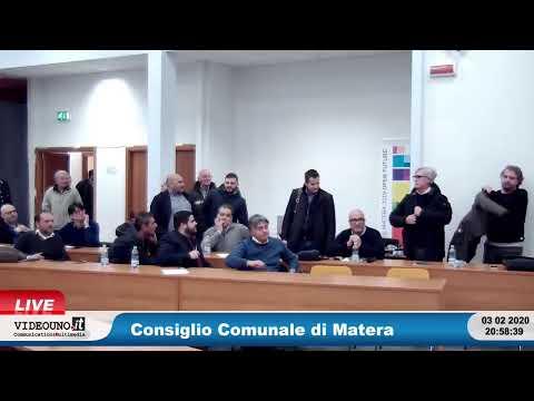 Consiglio Comunale di Matera 03 febbraio 2020Mozio...