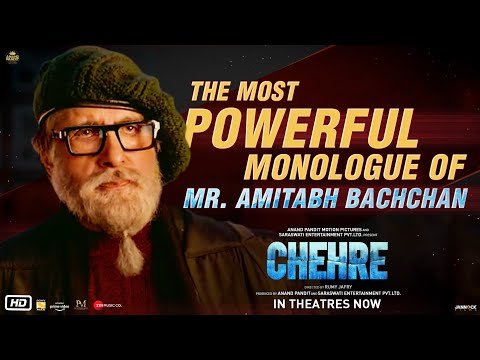 Chehre - The Most Powerful Monologue Of Mr Amitabh Bachchan | Rumy J. | Anand P. | In Theatres Now