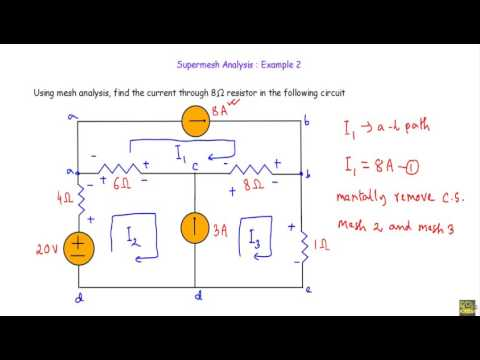 Supermesh Analysis : Example 2
