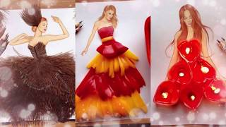 TOP 50 + 100 Amazing Dress Fashion illustration by Edgar Artis - The best on YouTube