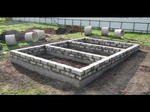 Новый фундамент после сноса старого дома