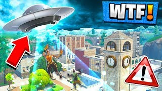 UFO IS INVADING TILTED TOWERS?! Fortnite: Battle Royale (Season 4 Battle Pass)