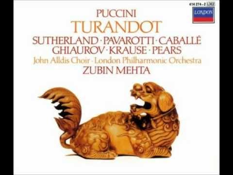 Turandot 7: Act 1 Non piangere Liù... Ah! Per l'ultima volta!