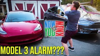 Does the Tesla Model 3 Have an Alarm System???