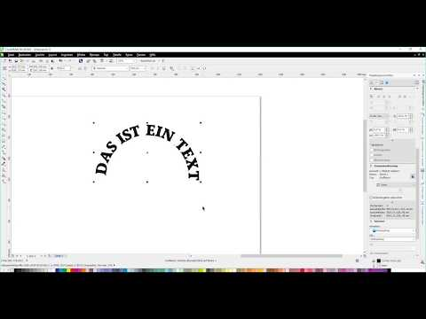 Corel Text an Objekt ausrichten