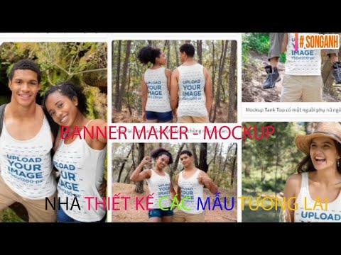 """Cách hướng dẫn """" banner maker""""mockup banner maker @SONGANH"""