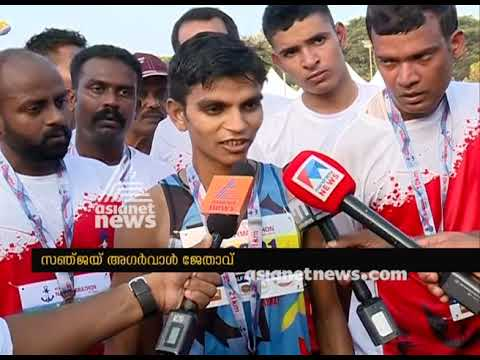 Sanjay agarwal Ice cream seller won first place Kochi Navy Marathon