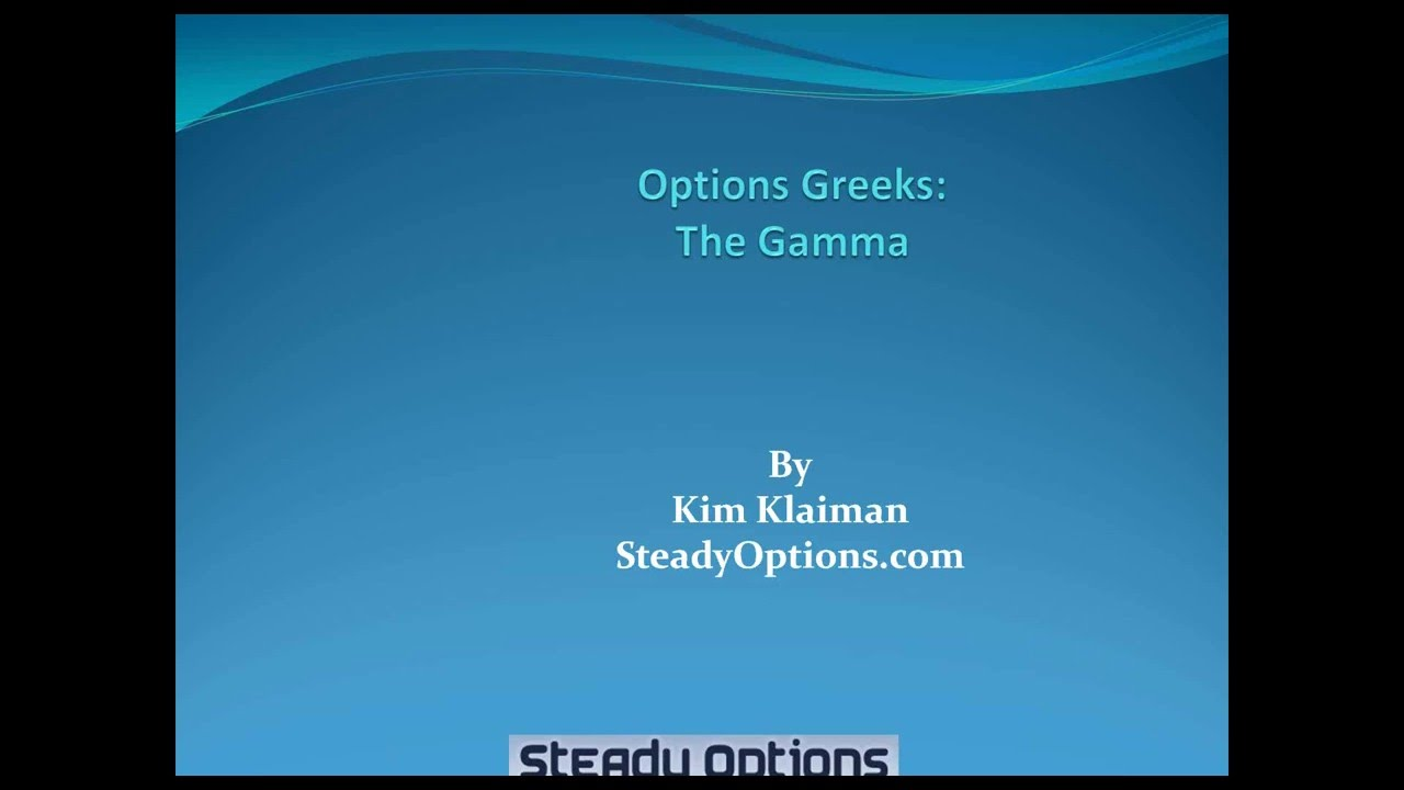 Gamma trading fx options