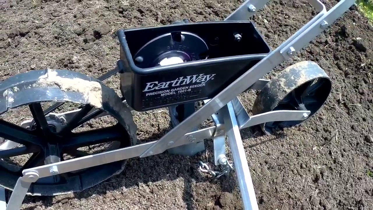 Earthway Precision Garden Seeder 1001 B Planting Sweet Corn And Popcorn Youtube