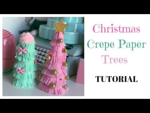 Christmas Crepe Paper Trees : TUTORIAL thumbnail
