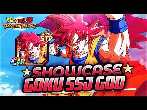 SHOWCASE! Goku Super Saiyan God STR! | DBZ Dokkan Battle En Español