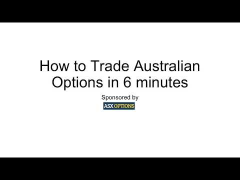 How to Trade Australian Options in 6 Minutes