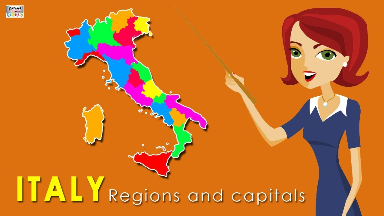 Map Of Italy Regions And Capitals.Learn Regions And Capitals Of Italy Country Map Of Italy Geography For Students