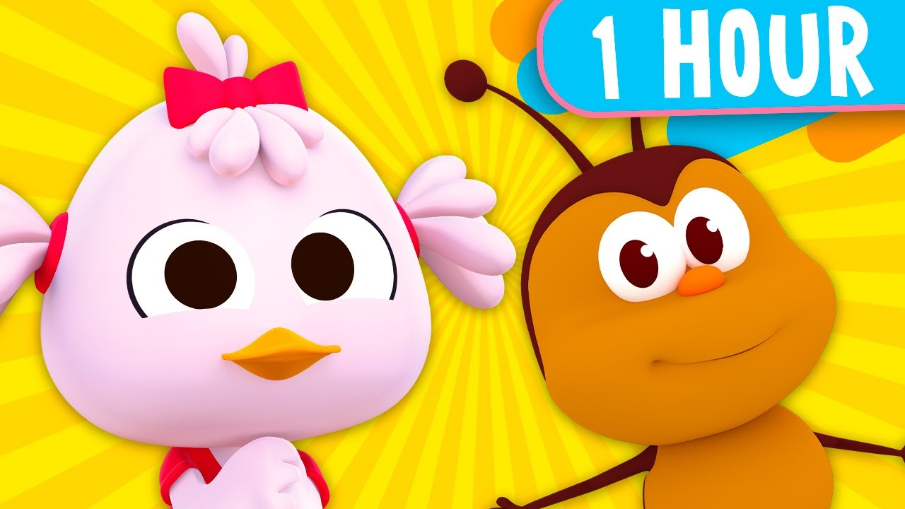 1 HOUR!  Zoo Songs and Funny Videos for Kids!  - Kids Songs and Nursery Rhymes