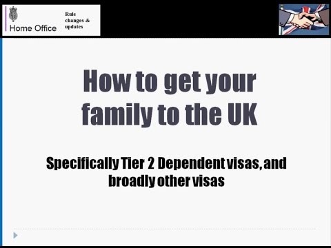 How to get your family to the UK - Applying for Dependent visas