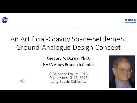 An Artificial-Gravity Space-Settlement Ground-Analogue Design Concept