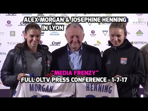 "D1 Feminine - Alex Morgan & Josephine Henning ""Media Frenzy"" (FULL OLTV Press Conference) - 1-7-17"