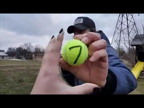 Cha-Cha Picks the Powerball Numbers with Tennis Balls