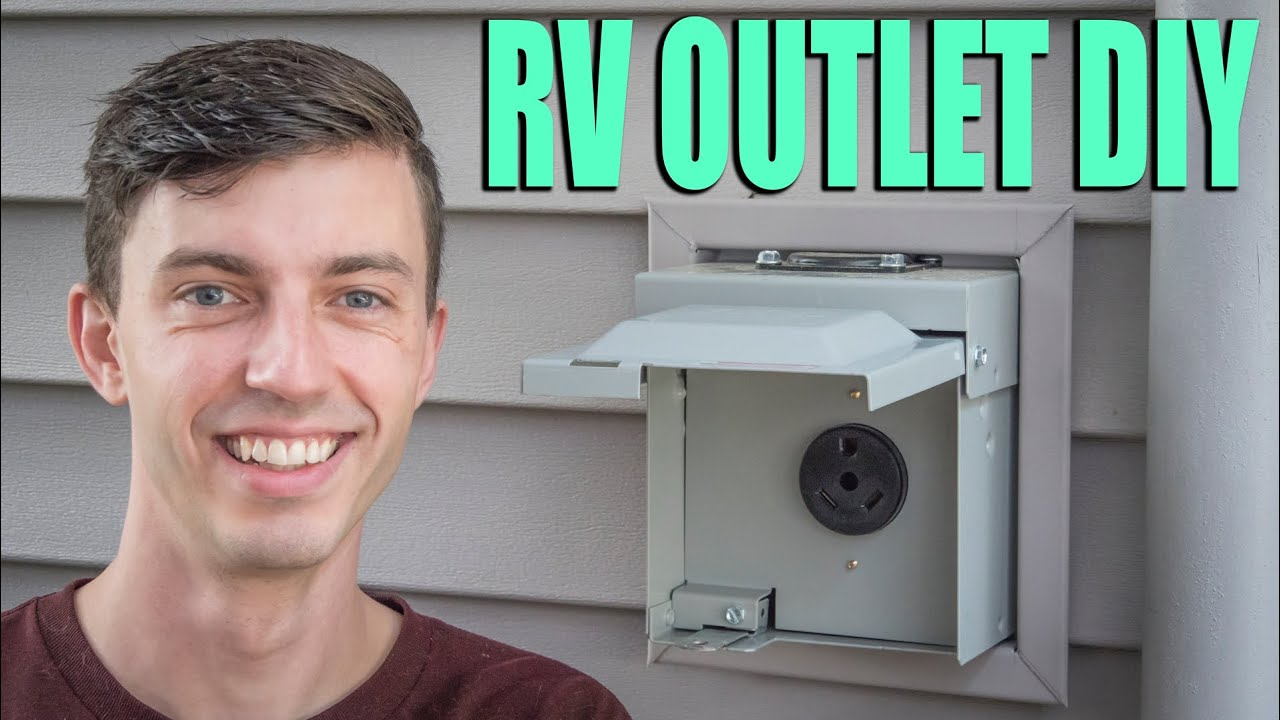 20 Amp RV Outlet Install   DIY Electrical Receptacle Wiring