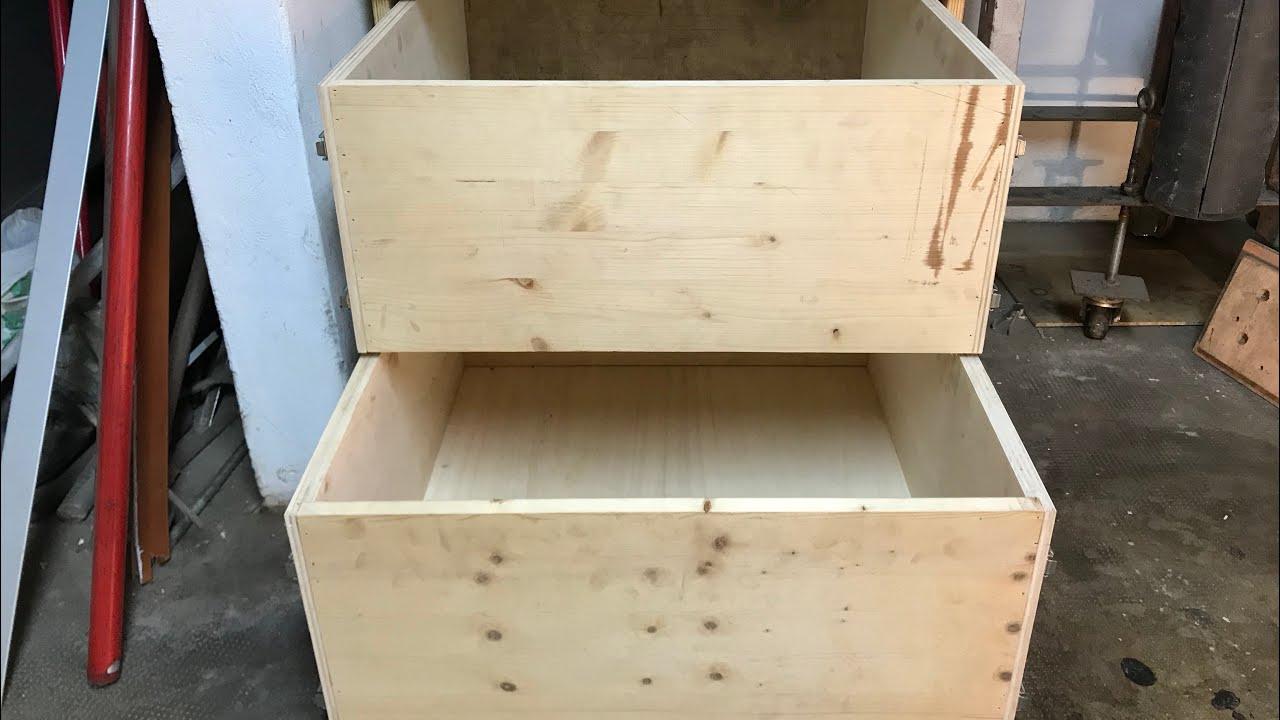 costruzione di un cassetto con guide a scorrimento totale - youtube
