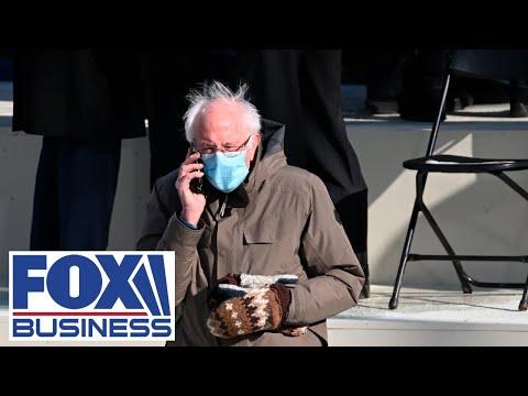 Photo of Sen. Bernie Sanders at Biden's inauguration goes viral