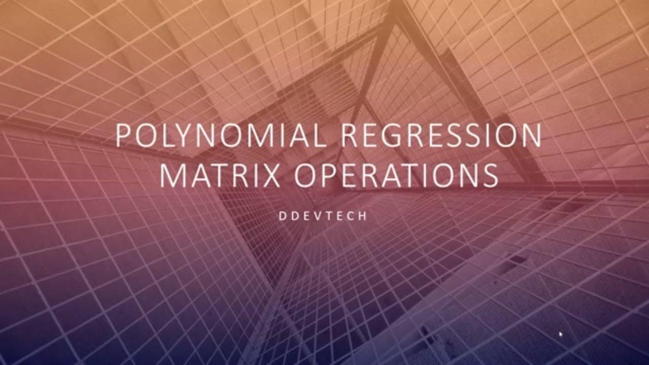 Polynomial Regression in Java using Matrix