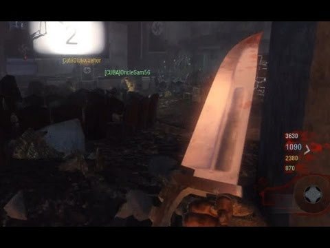 KNIFE ONLY in Kino Der Toten w 4 Players - Black Ops Zombies