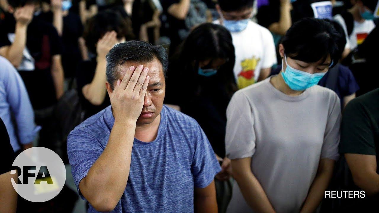 Hồng Kông: Biểu tình ngồi đánh dấu 1 tháng vụ nhóm áo trắng làm 45 người bị thương