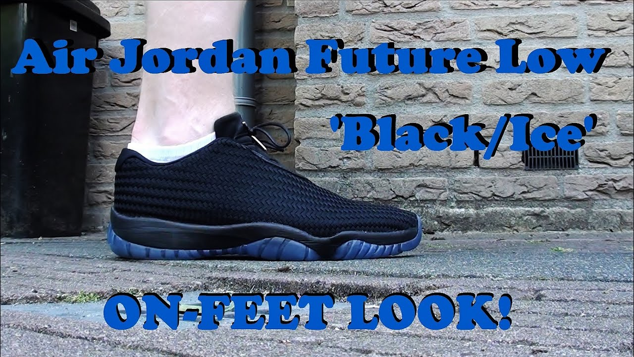 ON-FEET LOOK  Air Jordan Future Low Woven  Gamma Blue     Black Ice ... 7b93fbf0a