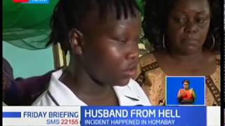 Woman in Homabay in hospital after her husband cut off her hand