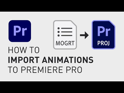 How to insert motion graphic templates