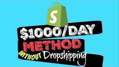 SHOPIFY - How To Make $1,000 A DAY With Digital Products