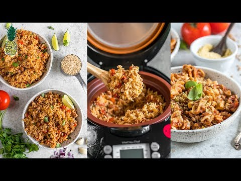 Vegan Rice Cooker Meals: Pasta and Spanish Rice   #SSVHealthy2018