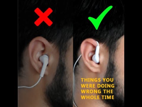 How to wear earphones the right way YouTube